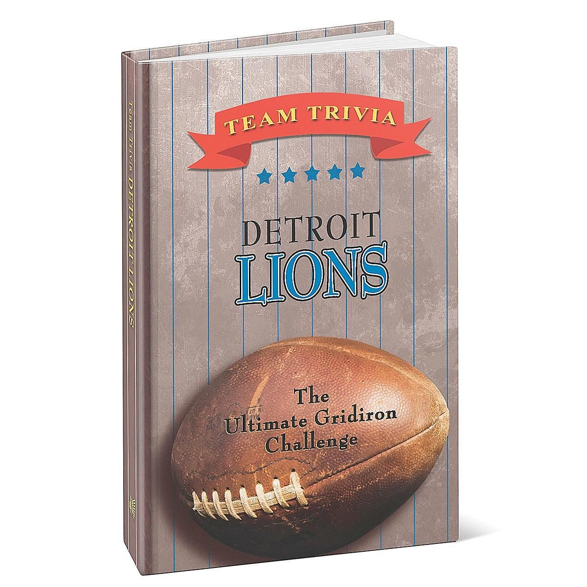 Detroit Lions NFL Team Trivia Book