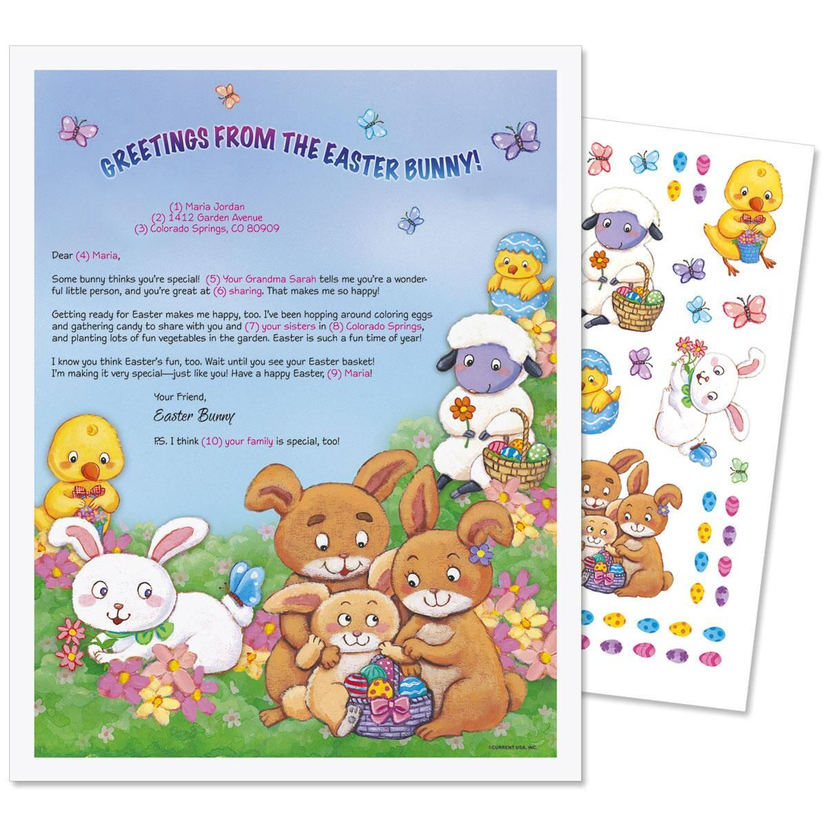 Easter Bunny Letter & Stickers
