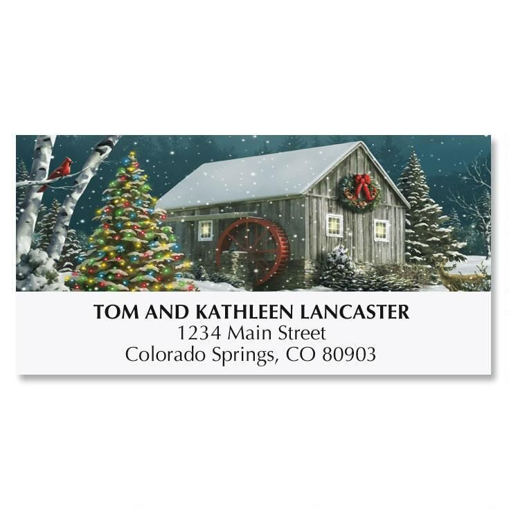 Falling SnowChristmas Deluxe Address Labels