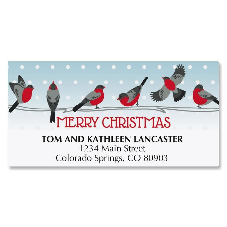 Festive Feathers Matching Labels