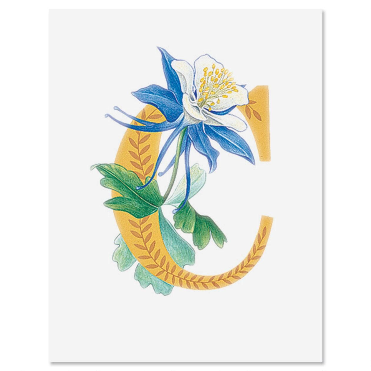 Floral Initial Personalized Note Cards