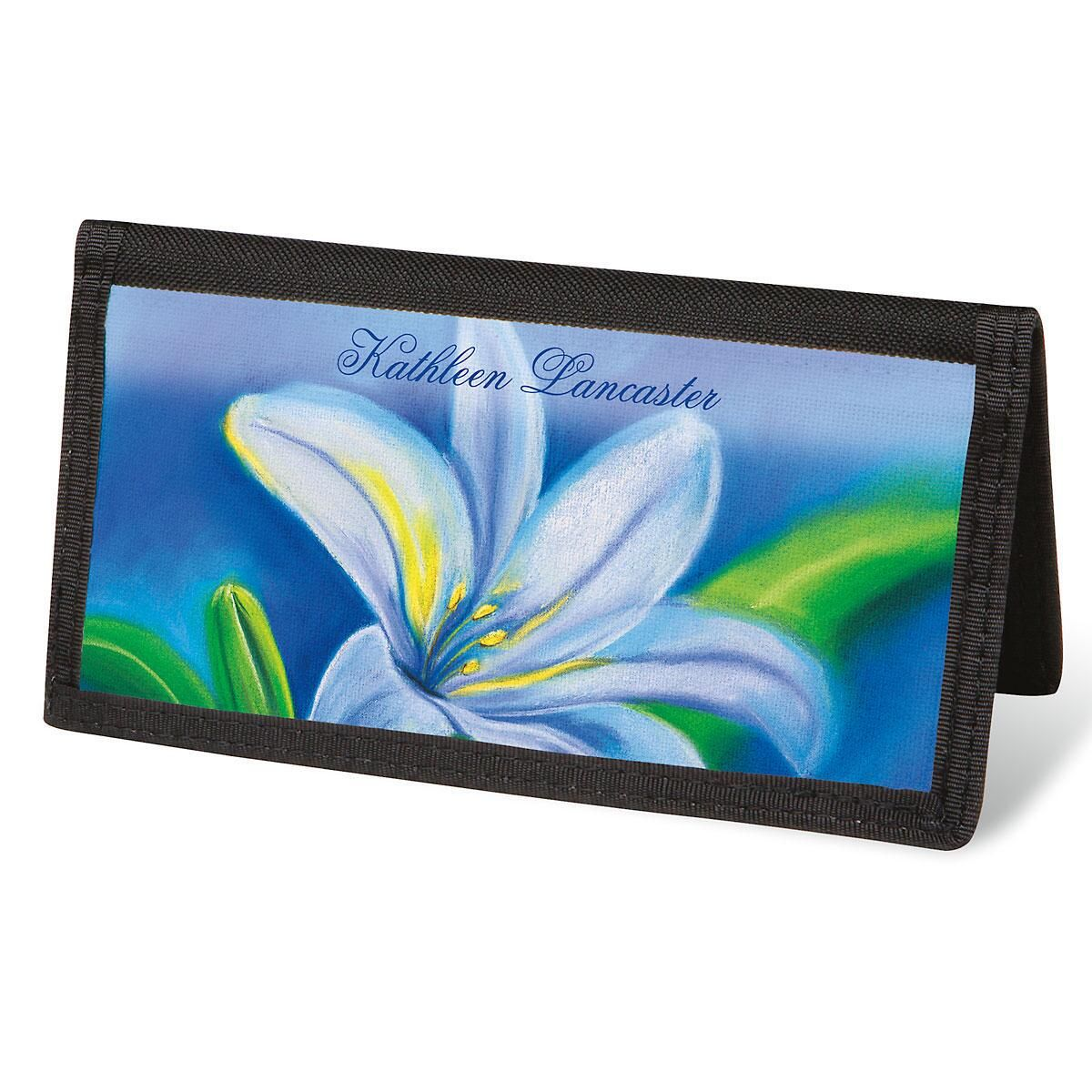 Floral Whispers Checkbook Cover - Personalized