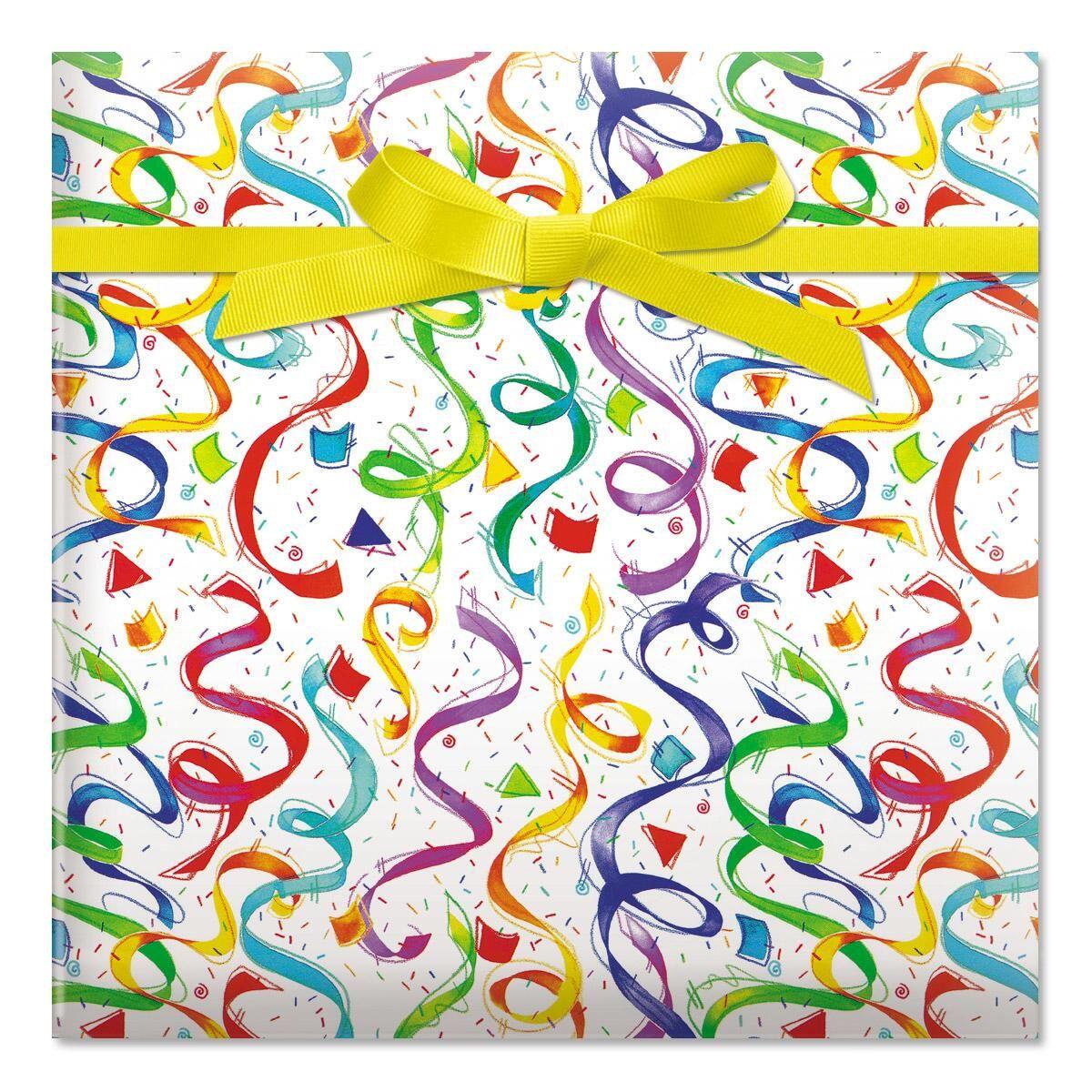 Happy Birthday Confetti Jumbo Rolled Gift Wrap
