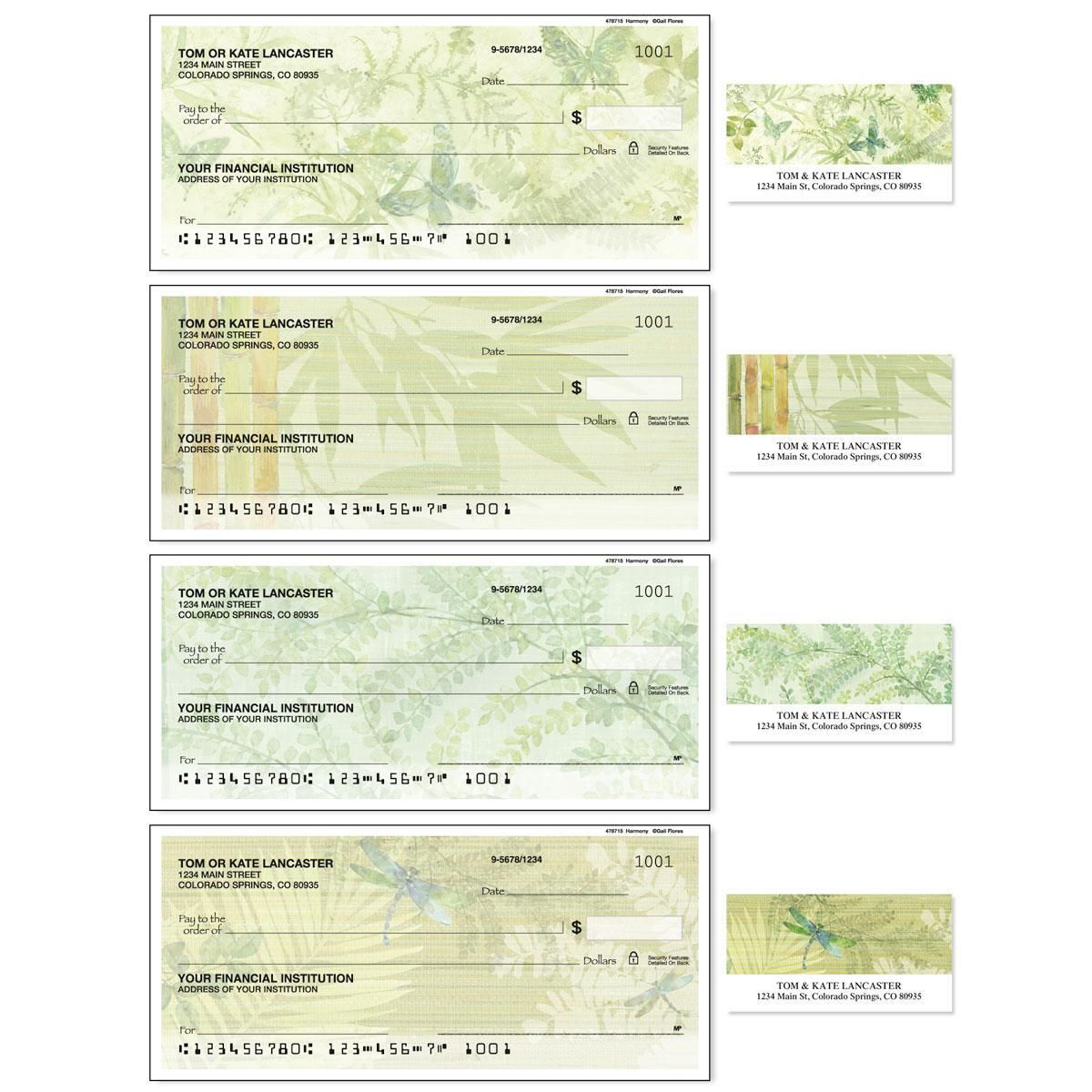 Harmony Single Checks With Matching Address Labels