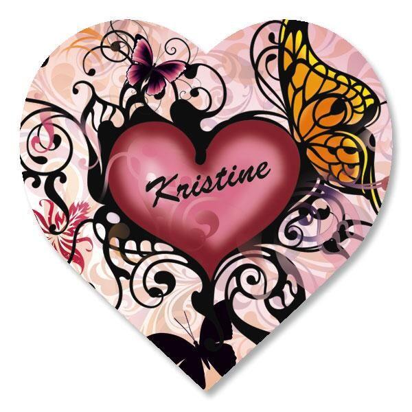 Heart and Butterflies Stickers