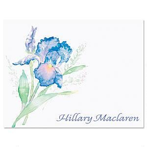Iris Personalized Note Cards