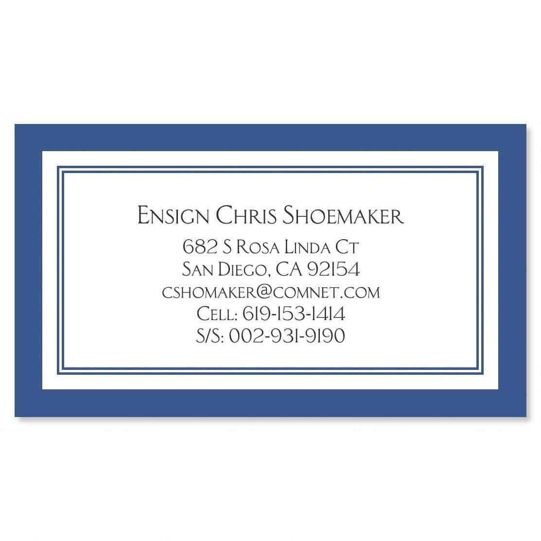Navy Crisp Luxe Calling Card