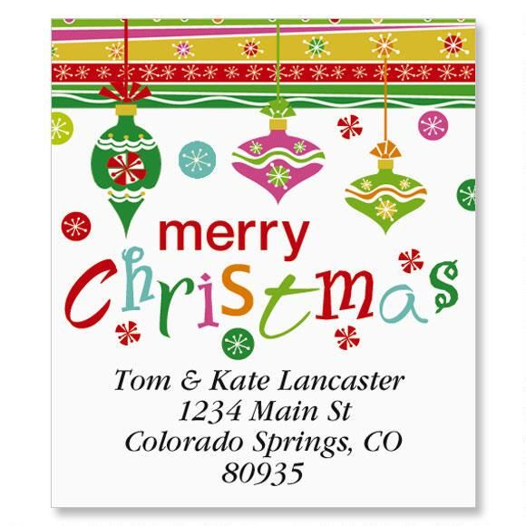 Merry Christmas Select Address Labels