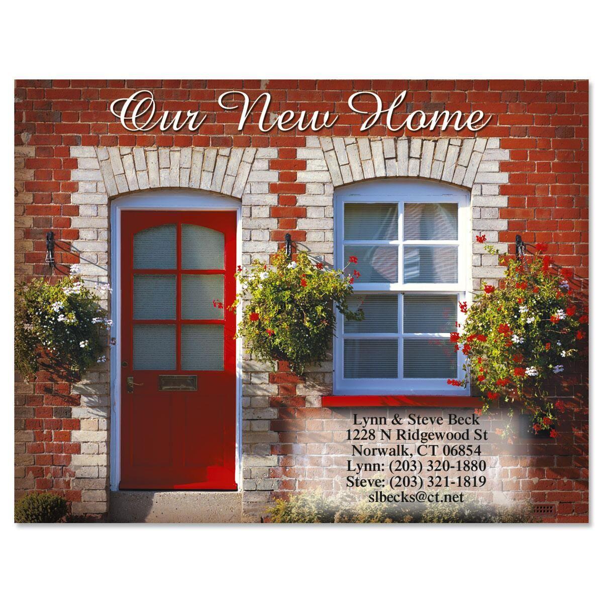 Red Door We've Moved New Address Postcards