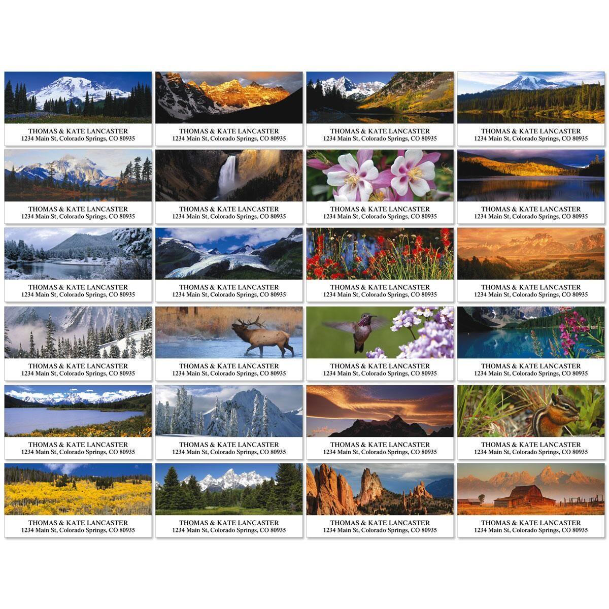 Rocky Landscapes Deluxe Address Labels  (24 designs)