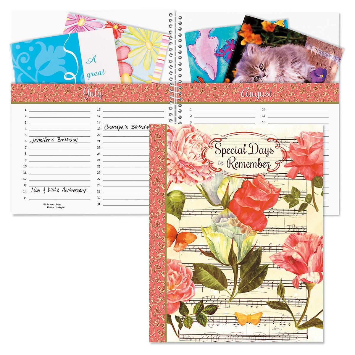 Roses Greeting Card Organizer Book
