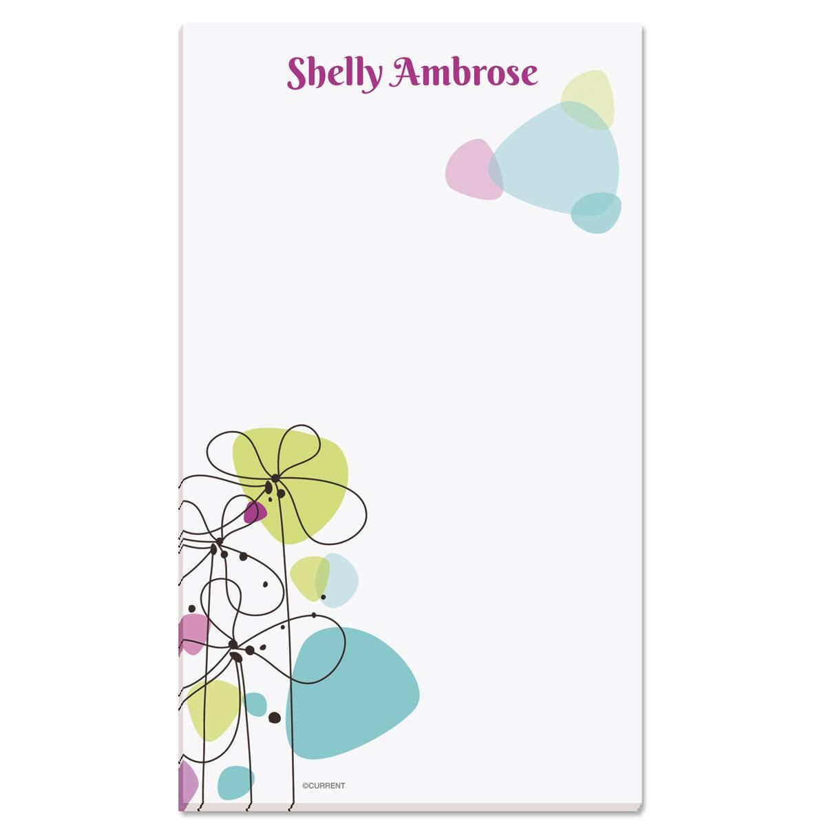 Sketched Flowers Personalized Notepads