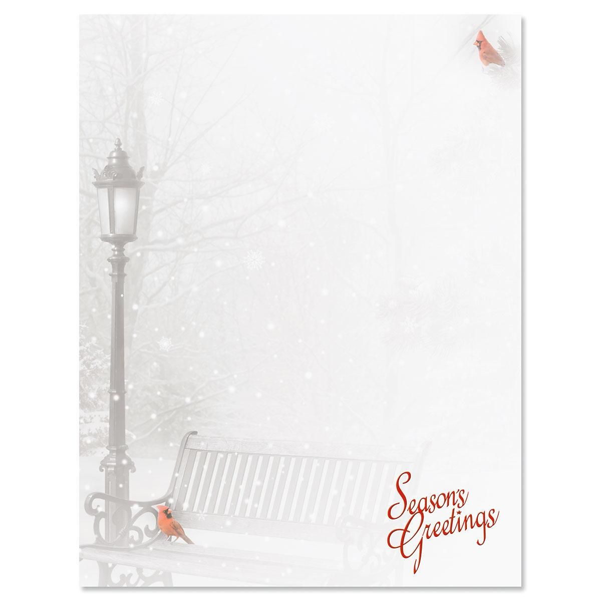 Snowfall Christmas Letter Papers