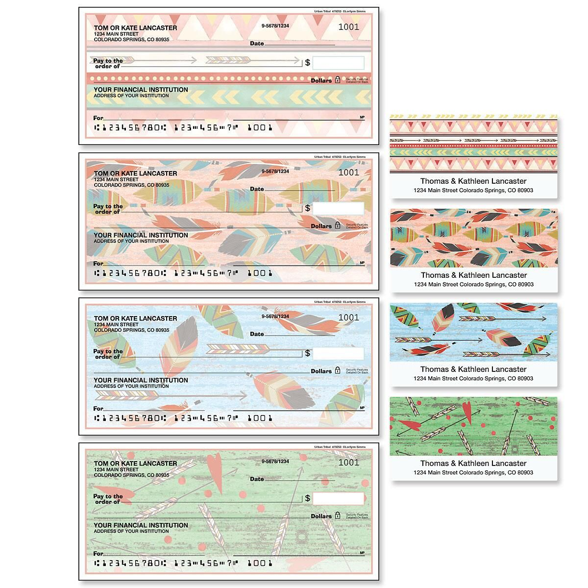 Urban Tribal Single Checks with Matching Labels