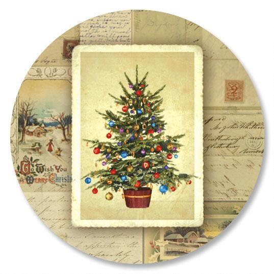 Victorian Tree Envelope Sticker Seals