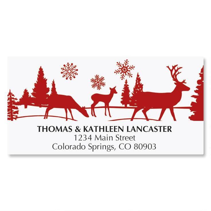 Winter's Night Address Labels