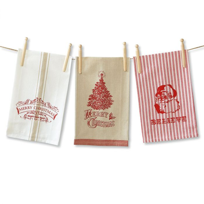 Christmas Kitchen Towels - Set of 3