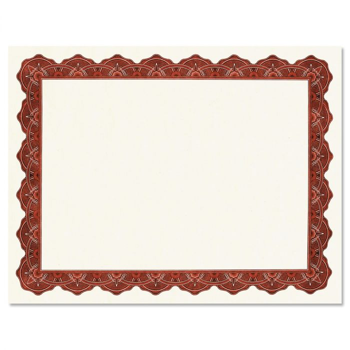 Majestic Maroon Certificate on White Parchment