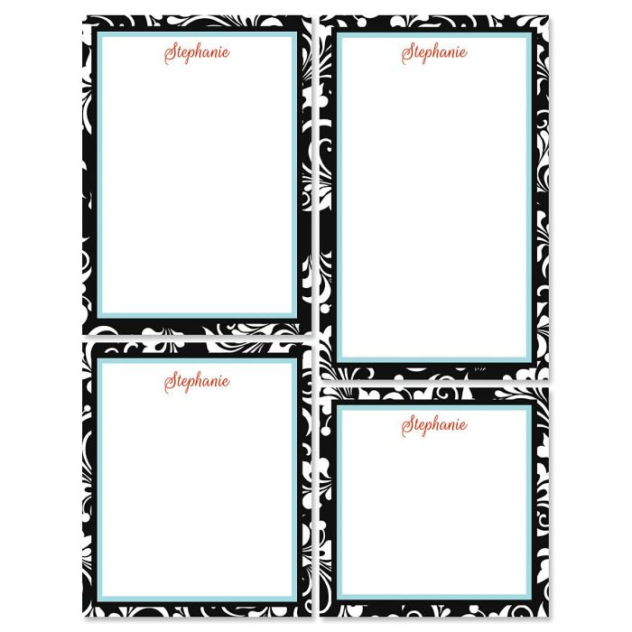 Opulent Personalized Notepad Set