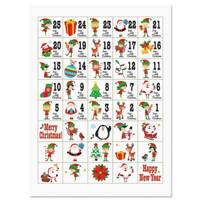 Christmas Countdown Stickers
