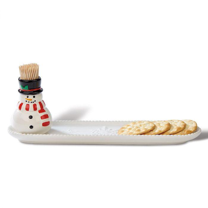 Snowman Cracker Tray