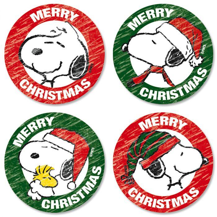 Snoopy™ Christmas Envelope Sticker Seals