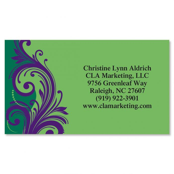 Emerald And Royal Standard Calling Card