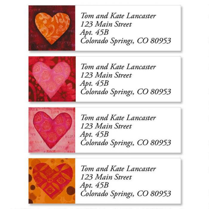 Heart Classic Address Labels  (4 Designs)