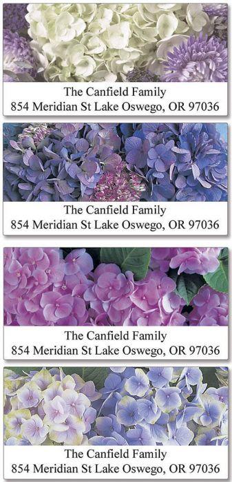 Hydrangea Deluxe Address Labels  (4 designs)