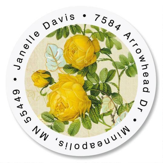 Nature's Flora Round Address Labels