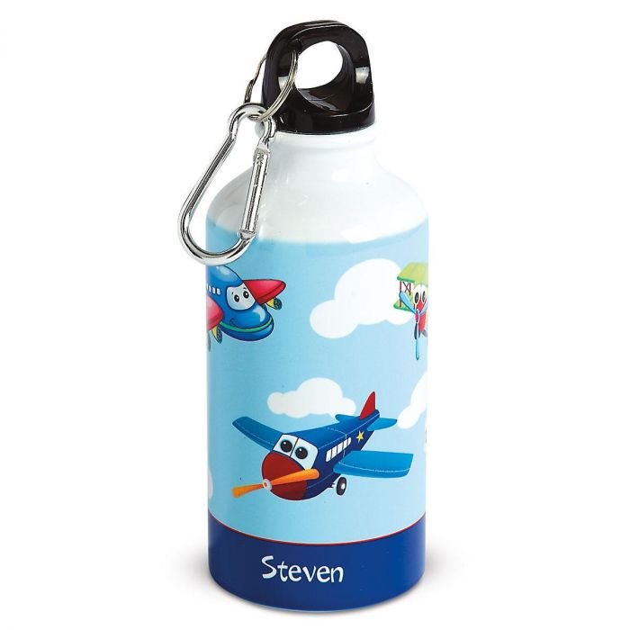 Personalized Airplane Kids' Water Bottle
