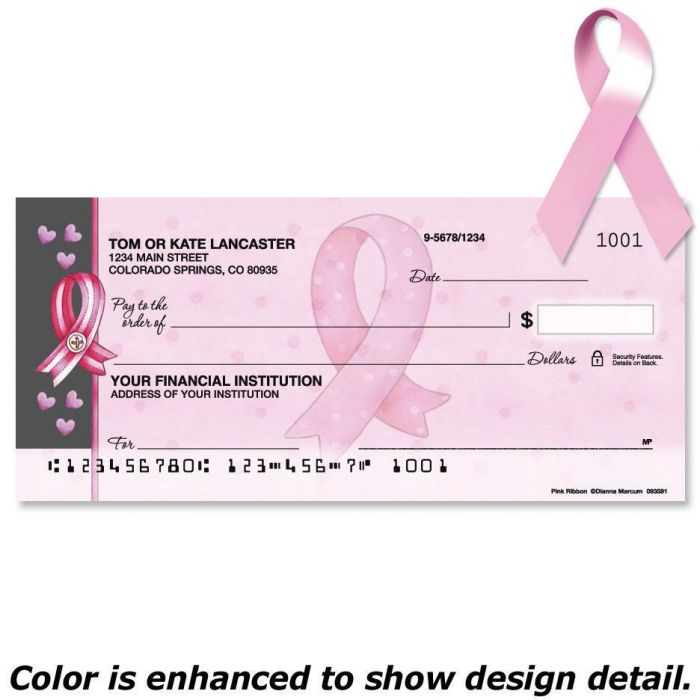 Pink Ribbon By Dianna Marcum Duplicate Checks