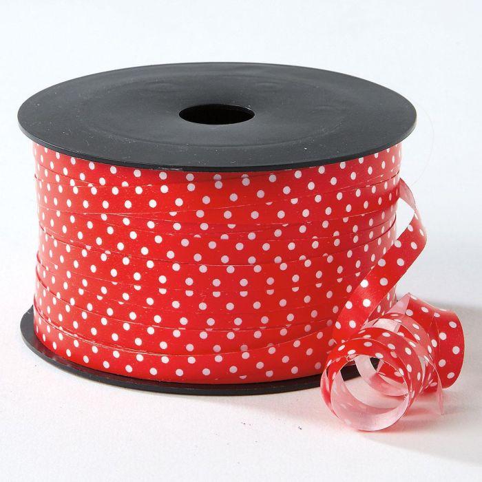 Red Polka Dots Christmas Curling Ribbon