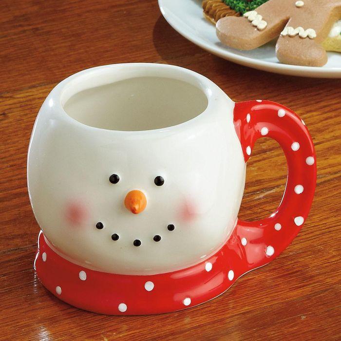 Red Scarf Snowman Mug