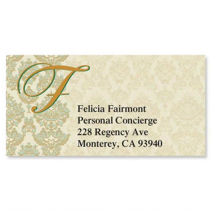 Regency Initial Border Address Labels