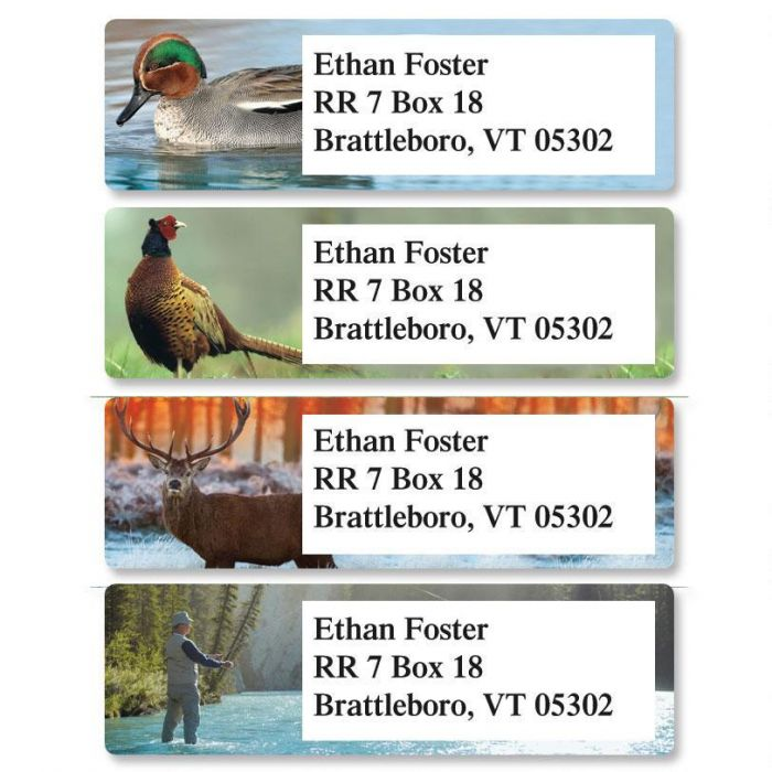 Relaxing Wildlife Classic Address Labels  (4 Designs)