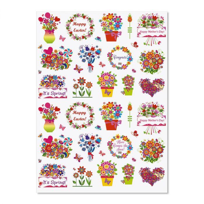 Spring Salutation Stickers