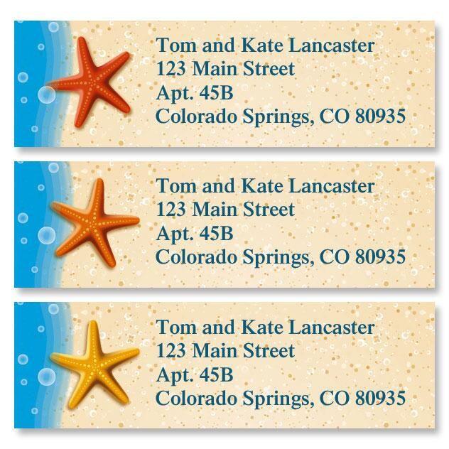 Starfish Trio Classic Address Labels  (3 Designs)