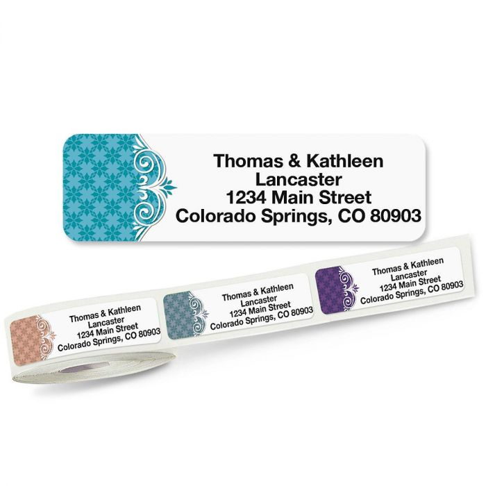 Suave Rolled Address Labels  (5 Designs)