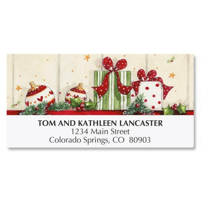 Sweet Stockings Deluxe Address Labels