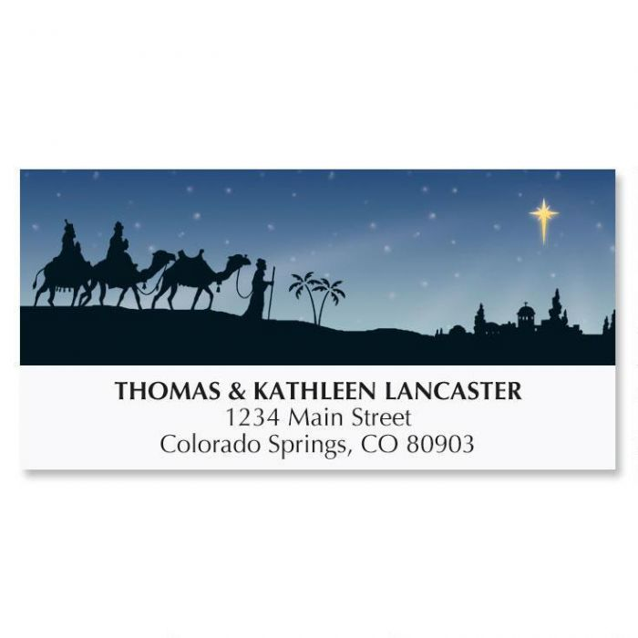 Three Wise Men Christmas Address Labels