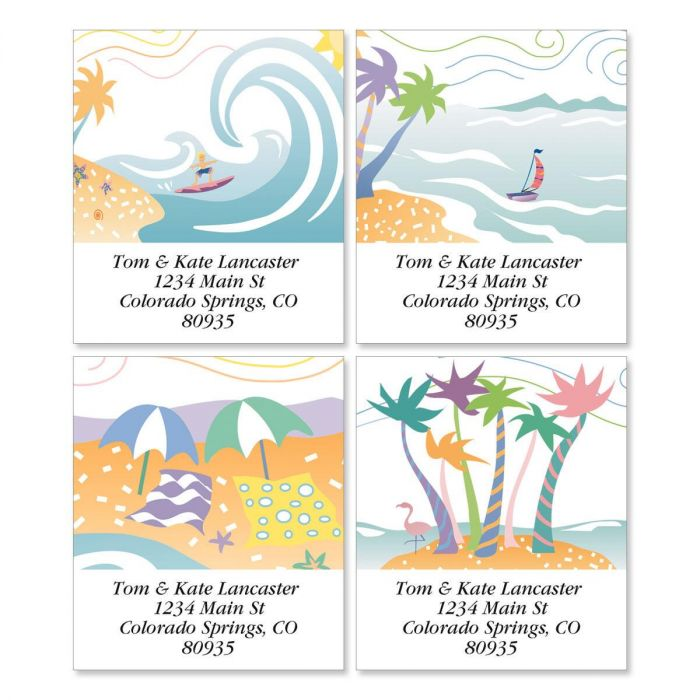 Tropical Moods Select Address Labels  (4 designs)