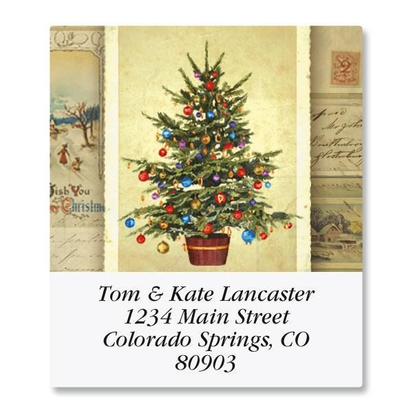 Victorian Tree Select Address Labels