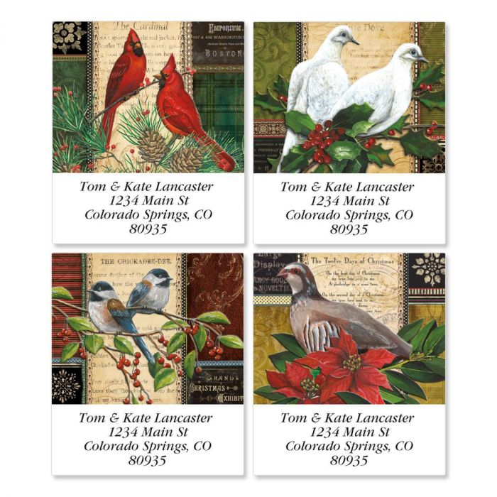 Winter Birds Select Address Labels  (4 designs)