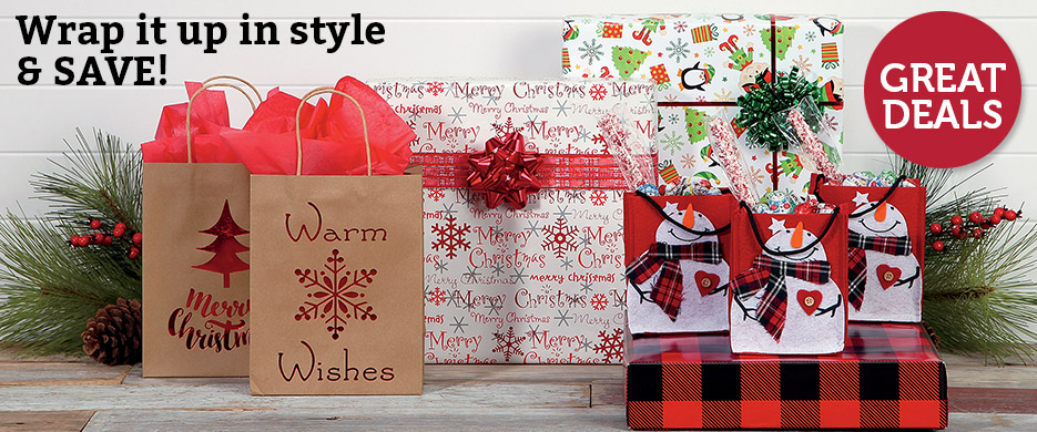 christmas wrapping paper accessories