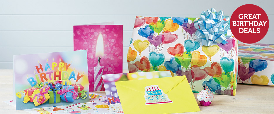 Shop Fun & festive birthday wrap, cards & unique gifts at Current Catalog