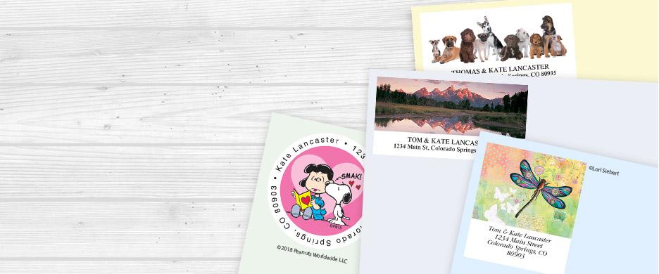 personalized custom return address labels stampers current catalog